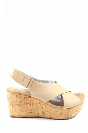 Clarks Plateauzool sandalen wolwit casual uitstraling