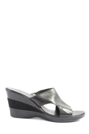 Clarks Wedges Sandaletten schwarz Casual-Look