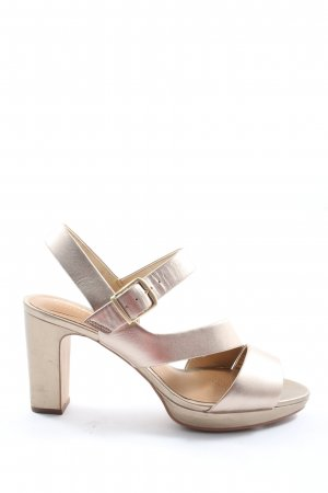 Clarks Strapped High-Heeled Sandals silver-colored casual look