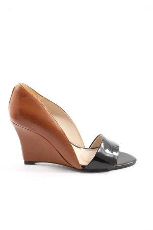 Clarks Platform High-Heeled Sandal black-brown elegant