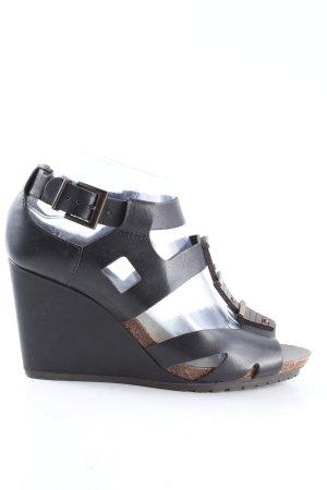 Clarks Plateau-Sandaletten schwarz Casual-Look
