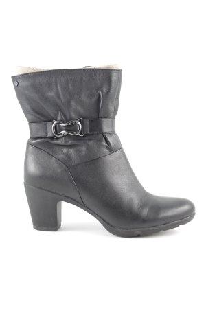 Clarks Reißverschluss-Stiefeletten schwarz Casual-Look