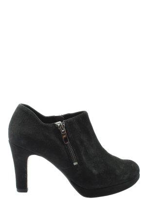 Clarks Reißverschluss-Stiefeletten schwarz Elegant