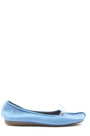 Clarks Riemchen Ballerinas blau Casual-Look