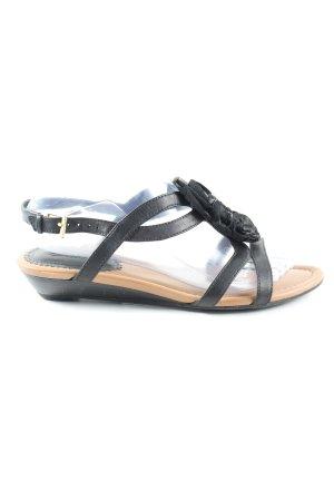 Clarks Riemchen-Sandalen schwarz Casual-Look