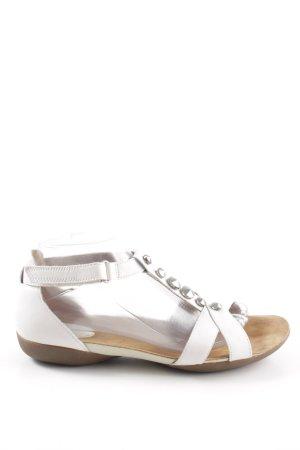 Clarks Sandalen met bandjes wit casual uitstraling