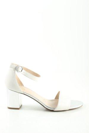 Clarks Riemchen-Sandaletten weiß Business-Look
