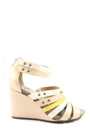 Clarks Riemchen-Sandaletten creme-blassgelb Casual-Look