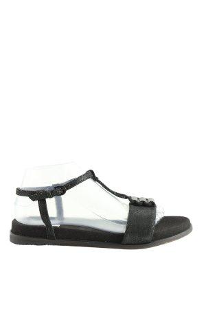 Clarks Riemchen-Sandaletten schwarz Animalmuster Casual-Look