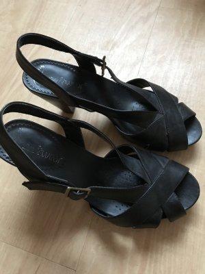Clarks Sandalen Gr. 37 schwarz