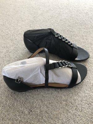 Clarks Sandalias de tiras negro-color plata