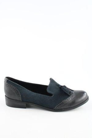 Clarks Schlüpfschuhe blau-schwarz Business-Look