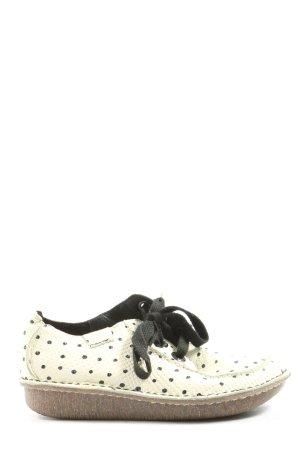 Clarks Schnürschuhe wollweiß-schwarz Animalmuster Casual-Look
