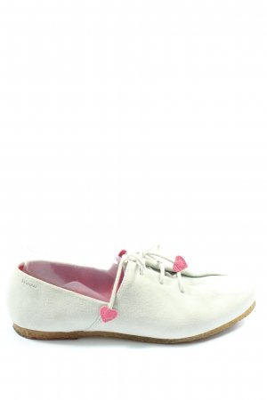 Clarks Lace Shoes white-turquoise casual look