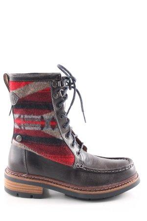 Clarks Aanrijg laarzen abstract patroon casual uitstraling