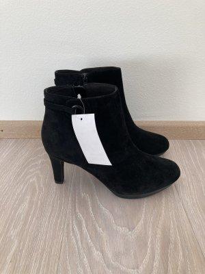 Clarks Stiefelette Boots schwarz Leder Gr. 37,5