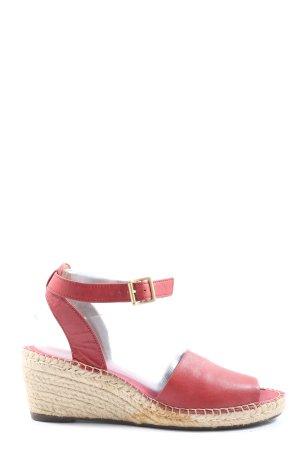 Clarks Sandały klinowe na obcasie czerwony W stylu casual