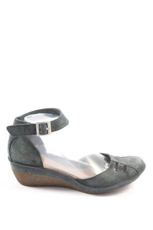 Clarks Wedges Sandaletten hellgrau Casual-Look