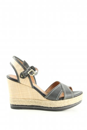 Clarks Wedge Sandals black-cream casual look