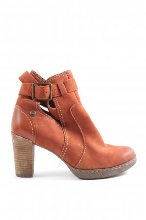Clarks Cut Out Booties light orange casual look