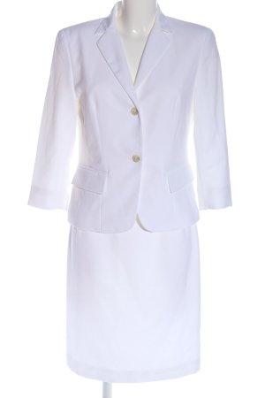 Clasen Podwójny zestaw z dżerseju biały W stylu biznesowym