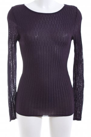Clasen Geribd shirt lila gestippeld casual uitstraling