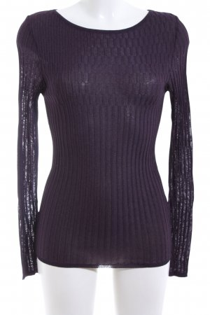Clasen Ribbed Shirt lilac flecked casual look