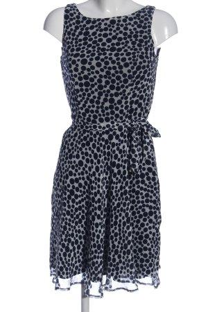 Class A-Linien Kleid hellgrau-schwarz Allover-Druck Elegant