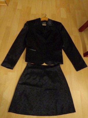CLASS Damenkostüm,italienische Mode, ital. Gr. 40 dt. 36,dunkelblau,einmal getr.