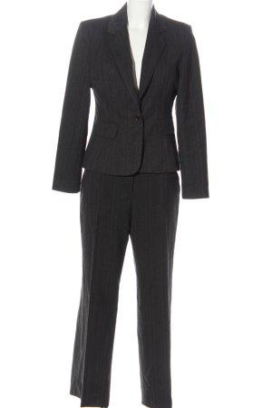 Class Garnitur damski czarny-niebieski Wzór w paski W stylu casual