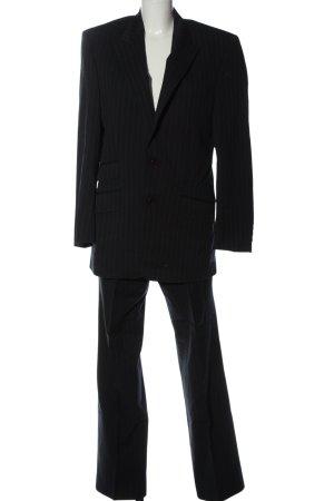 Class Hosenanzug schwarz-braun Streifenmuster Business-Look