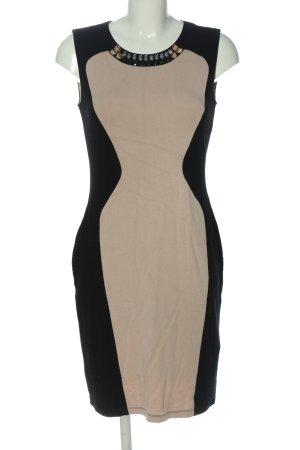 Class International Ołówkowa sukienka czarny-kremowy Ekstrawagancki styl