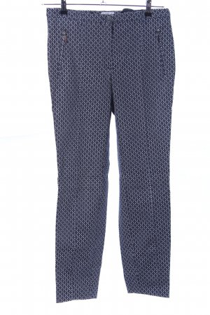 Class International Bundfaltenhose blau-weiß grafisches Muster Business-Look