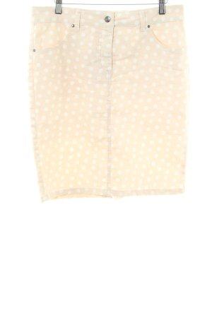 Class International Jeansowa spódnica kremowy Wzór w kropki W stylu casual