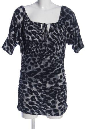 Class International Długa bluzka czarny-jasnoszary Zwierzęcy wzór