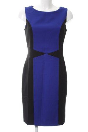 Class International Sukienka midi niebieski-czarny W stylu biznesowym