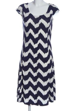 Class International Sukienka midi niebieski-biały Wzór w paski W stylu casual