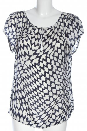Class Short Sleeved Blouse white-black abstract pattern casual look