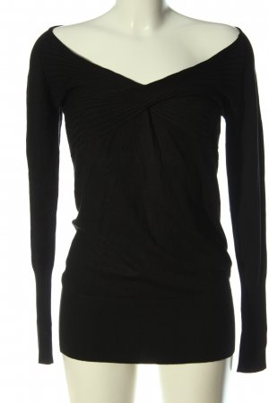 Class Long Sleeve Blouse black cable stitch casual look