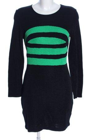 Class Minikleid schwarz-grün Streifenmuster Casual-Look