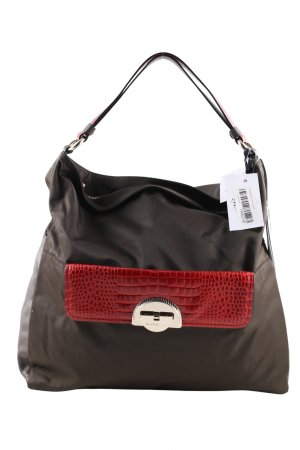 CLASS Roberto Cavalli Shopper black-red animal pattern casual look