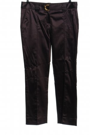CLASS Roberto Cavalli Stretch Trousers black-gold-colored casual look