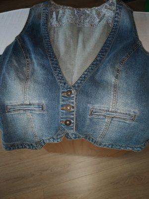 C&A Jeansowa kamizelka jasnoniebieski Bawełna