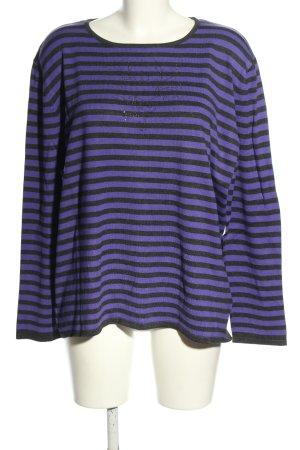 Classic by michele boyard Knitted Sweater black-lilac striped pattern