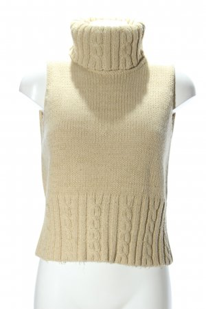 Classic Collection Stricktop creme Zopfmuster Casual-Look