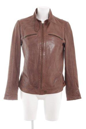 Classic Elegance Lederjacke bronzefarben Casual-Look