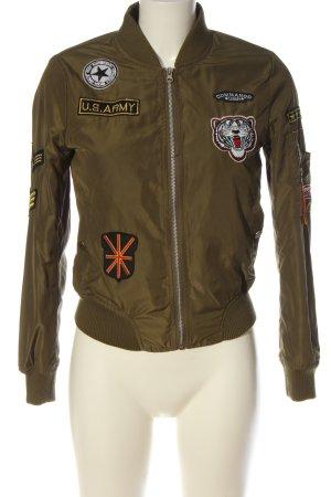 classic fashion Bomber Jacket khaki elegant