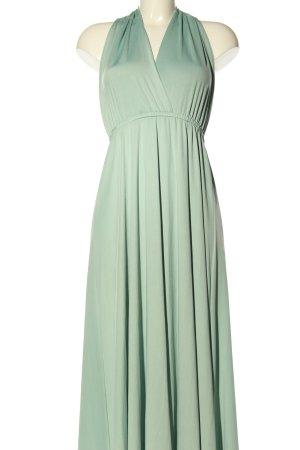 classic fashion Vestido de cuello Halter verde look casual