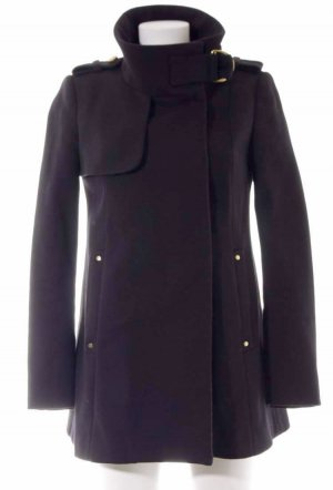 MNG Collection Manteau court noir-doré coton