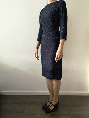 classic navy polka dot dress